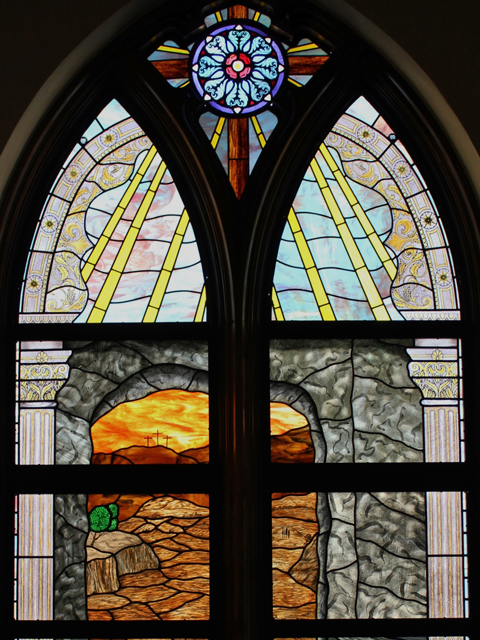 Stained Glass In The First United Methodist Church Of New Braunfels